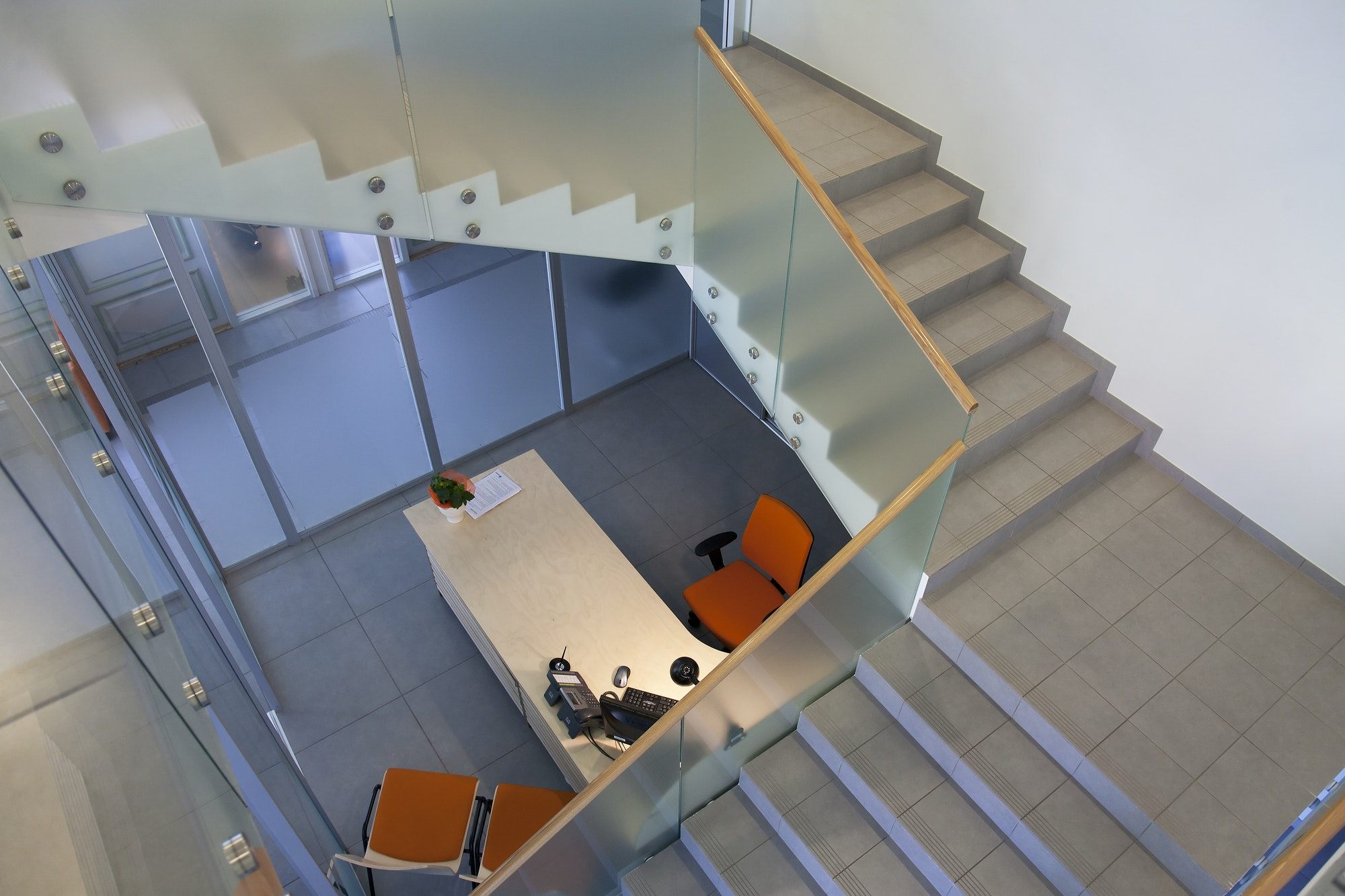 Stairwell in and Office